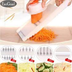 ราคา Jvgood Mandoline Slicer ชุดสไลด์ผักผลไม้ ชุดมีดหั่นผักอเนกประสงค์ ชุดอุปกรณ์ปอกผักผลไม้ เครื่องหั่นผักผลไม้ที่หั่นผักผลไม้ ที่ขูดผักผลไม้ Jvgood จีน