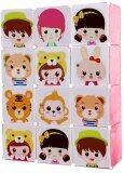 ราคา Kakuki ตู้เสื้อผ้าเด็ก Diy 12 ช่อง Hot Item Fashion Folding Clohts รุ่น K103 สีชมพู เป็นต้นฉบับ