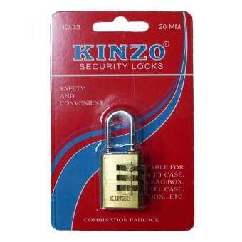 KANZO กุญแจทองเหลืองใส่รหัส 20 mm (สีทอง)