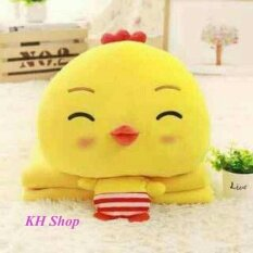ซื้อ Kh ตุ๊กตาหมอนผ้าห่มไก่ เกรด Premium ตัวใหญ่เนื้อผ้านาโนอย่างดี สีเหลือง ออนไลน์ ถูก