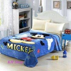 Kh ผ้าห่มขนมิงค์เกรด Premium Mickey ขนาด 150X200 Cm 5 ฟุต นำเข้าจากไต้หวั่น ใหม่ล่าสุด