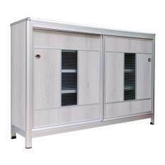 Kiattipoom Aluminum ตู้รองเท้าอลูมิเนียม 120Cm สี Grey Oak ถูก