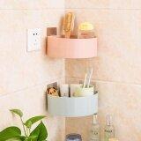 Kitchen Bathroom Corner Storage Holder Shelf Shower Caddy Tool Organizer Rack Basket Sucker Cup Intl Unbranded Generic ถูก ใน จีน