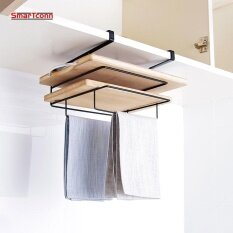 Kitchen Cupboard Cutting Board Hanging Holder With Towel Hanger 3 Shelf Pantry And Cabinet Door Draining Organizer Intl ใน จีน