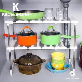 KitchenMarks ชั้นวางของใต้ซิ้ง ชั้นวางของในครัว ชั้นวางของอเนกประสงค์ ชั้นวางของในตู้