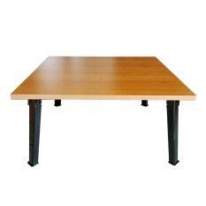 ขาย Kk Shop โต๊ะญี่ปุ่น สี่เหลี่ยม 60X60ซม กันน้ำได้ ไม้เมลามีน เชอร์รี่ ราคาถูกที่สุด
