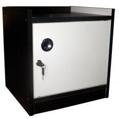 ราคา Kk Shop ตู้เซฟข้างเตียง รุ่น Safebox 1Dk ไม้เมลามีน ตัวโอ๊ค บานขาว เป็นต้นฉบับ Kk Shop