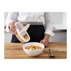 โปรโมชั่น กล่องใส่อาหารแห้งพร้อมฝา ใส ขาว ขนาด 3 ลิตร Me Time