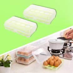 ขาย กล่องพลาสติกใส่ไข่ กล่องใส่ของเอนกประสงค์ สีเขียว 2 ชิ้น เป็นต้นฉบับ