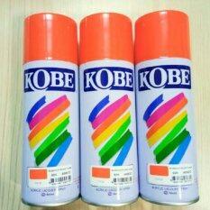 ส่วนลด สินค้า Kobeสีพ่นสเปรย์ สีเสปรย์ สีอะคริลิค ใช้งานได้หลากหลาย สีสวยสดทนนาน สีส้ม 3กระป๋อง ราคาส่ง