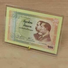 ขาย ซื้อ กรอบอะคริลิค ธนบัตรที่ระลึกเนื่องในโอกาสครบรอบ 100 ปี ธนบัตรไทย ไม่รวมธนบัตร Thailand