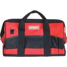 ซื้อ กระเป๋าใส่เครื่องมือช่างอเนกประสงค์ก้นกว้างอย่างดี 460Mm 18 Polyester Toolbag 28 Pockets Kennedy Industrial ใหม่ล่าสุด