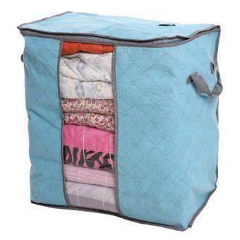 กระเป๋าเก็บผ้า ถุงเก็บเสื้อผ้า กระเป๋าเก็บผ้านวม ผ้าห่ม เสื้อผ้า สีฟ้า Storage Bag for Clothing Quilt Large Size (Blue)