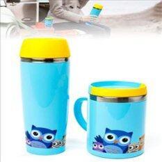 ราคา กระติกน้ำร้อนและแก้วสูญญากาศ สีฟ้า