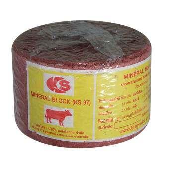 2 กิโลกรัม KS เกลือแร่วัว เกลือแร่ก้อน อาหารเสริม สำหรับโค กระบือแพะ แกะ และสัตว์เท้ามีกีบทุกชนิด ก้-