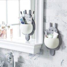 Kuhong Creative Totoro ดูดประเภทกำแพงผู้ถือแปรงสีฟันมัลติฟังก์ชั่แปรงสีฟันยาสีฟันห้องน้ำเครื่องใช้ในครัวเรือน.