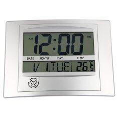 ซื้อ ลาครอสเชื่อมสัมพันธ์ระหว่างเทคโนโลยี Wt 8002U ดิจิตอลนาฬิกาแขวนผนัง นานาชาติ ใหม่