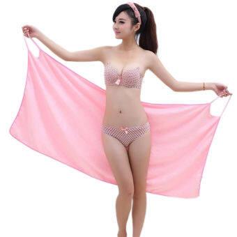 เสื้อคลุมอาบน้ำ เช็ดตัว ผู้หญิงผ้าไมโครไฟเบอร์ แห้งไว