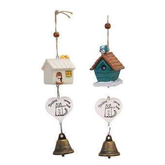 Mode Shop หญ้าคานกบ้านระฆังลม Aeolian ระฆังแขวนตกแต่งของขวัญ (สีขาว)