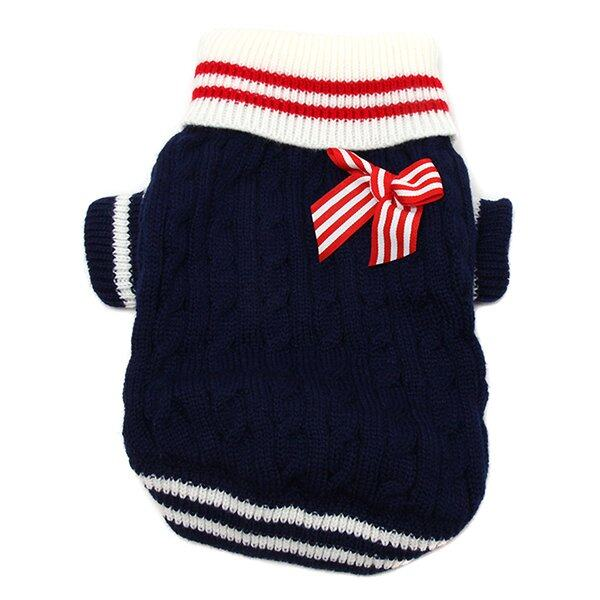 LALANG Pet Navy Sweater (Red)