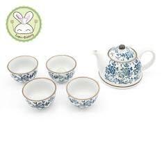 ราคา Lapin Cooking Gallery ชุดกาน้ำชา พร้อมถ้วยชา เซรามิค สำหรับ 4 ที่ ในกล่องของขวัญ