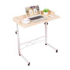 โปรโมชั่น Laptop Table โต๊ะคอมพิวเตอร์กว้าง 80 Cm มีล้อ สีน้ำตาลอ่อน ถูก