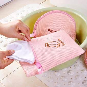 ไนล่อนตาข่ายเสื้อผ้าเครื่องซักผ้า Launry ถุงซักถุงเท้า ถุงซักผ้าปกป้องถุงซักรีดและตะกร้าล้างกระเป๋าตะกร้ากระเป๋าซิป