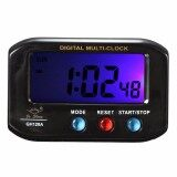 โปรโมชั่น Lcd Digital Time Date Alarm Clock Stop Watch Snooze Function With Night Light Unbranded Generic