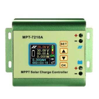 จอแอลซีดี MPPT ตัวควบคุมการชาร์จพลังงานแสงอาทิตย์ 24/36/48/60/72 โวลต์ 10A DC-DC Boost- นานาชาติ
