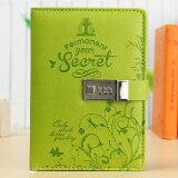 ราคา ราคาถูกที่สุด Leather Business Diaries Journal Notebook Secret Diary With Password Lock Green Intl