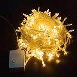 โปรโมชั่น สายไฟ Led 100 ดวง ยาว 8 เมตร สีขาวอบอุ่น Warm Light Led String Light ตกแต่งห้องนอน ห้องนั่งเล่น ถูก