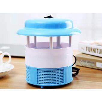 โคมดักยุง เครื่องดักยุง ใช้แสง LED ล่อยุงและแมลง ไม่ใช้สารเคมี ปลอดภัย สีฟ้า