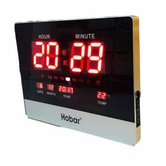 นาฬิกาแขวนผนัง นาฬิกาติดผนัง LED นาฬิกาดิจิตอล ตัวเลขใหญ่นาฬิกาแขวนแอลอีดีตัวเลขขนาดใหญ่