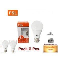 ซื้อ หลอดไฟ Led A60 Bulb 7W E27 Fsl แสงวอร์มไวท์ 6 หลอด ออนไลน์ ถูก