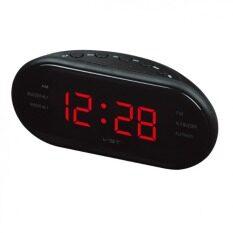 ทบทวน Led Alarm Clock Radio Digital Am Fm Radio With Eu Plug Black Intl Unbranded Generic