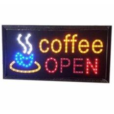 ขาย ป้ายไฟLed Coffee Open ป้ายไฟสำเร็จรูป ขนาด48 25 ซม อักษร ตกแต่งหน้าร้านกาแฟ Led Sign ข้อความ กรุงเทพมหานคร ถูก