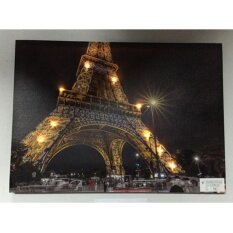 รูปภาพติดผนังมีไฟ Led รูป Eiffel Tower Paris.