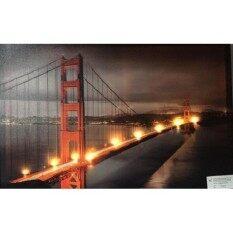 รูปภาพติดผนัง Led รูปสะพาน Golden Gate  Bridge แคริฟอร์เนีย.