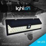 ขาย Solar Light ไฟ Led Lighton By Iggoo รุ่น 54Led ไฟพลังงานแสงอาทิตย์ พร้อมเซ็นเซอร์ตรวจจับความเคลื่อนไหว สี Cool White ถูก ใน กรุงเทพมหานคร
