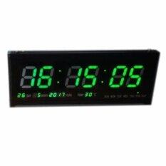 ส่วนลด นาฬิกาดิจิตอลLed Number Clock แขวนผนัง ตัวเลขสีเขียว