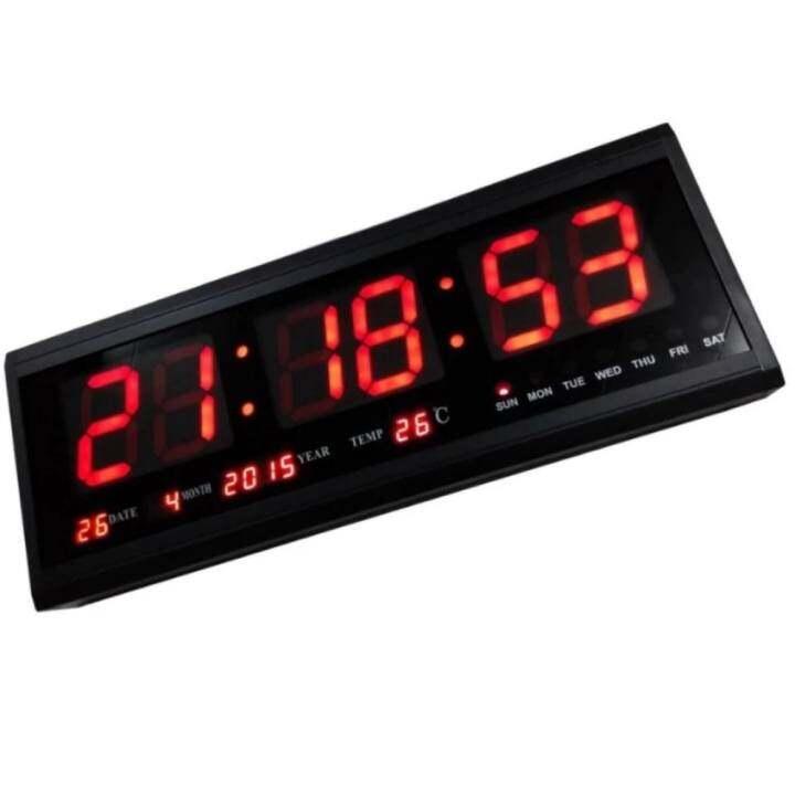 ซื้อที่ไหน นาฬิกาดิจิตอล LED NUMBER CLOCK แขวนผนัง(ตัวเลขสีแดง) รุ่น HB4819SM