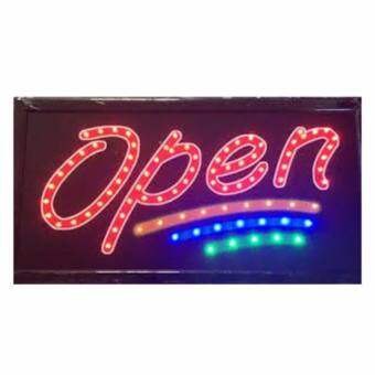 ป้ายไฟLED OPEN ขนาด50*26 ซม. อักษร ตกแต่งหน้าร้าน LED SIGN ข้อความ