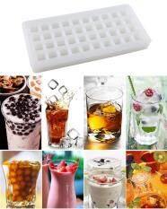 ราคา Leegoal 40 Ice Cube Trays Silicon Ice Mold Tray Candy Chocolate Silicone Molds Mini Ice Ball Maker Party Maker Square White Intl