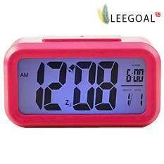 ราคา Leegoal สีน้ำเงินสว่างกลางคืนเงียบสงัดนาฬิกาปลุกดิจิตอลแสดงผลซ้ำวันงีบ Roseo ใหม่