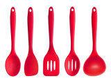 ราคา Leegoal ชุดเครื่องครัวสำหรับหม้อกะทะแบน ซิลิโคนสอดช้อนทัพพีราดส่วนผสมเซ็ต สีแดง 30 99ซม X 8 89ซม X 8 64ซม Leegoal ใหม่