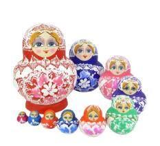 ขาย Leegoal Handmade Cutie Nesting Doll Madness Russian Matryoshka Doll Mixed Color Intl ถูก