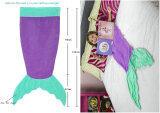 ส่วนลด Leegoal หางนางเงือกเมอร์เมดห่มผ้าห่มสำหรับเด็กหนุ่มขนเต็นท์ถุงนอนสีม่วงและสีเขียว Leegoal