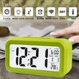 ขาย Leegoal Silent Digital Alarm Clock With Time Temperature Display Night Light Green Intl Intl ใน จีน