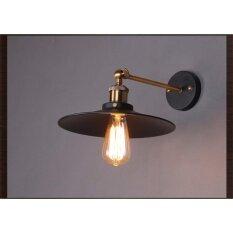 ส่วนลด สินค้า Leon Light โคมไฟผนังวินเทจ ขั้วทองเหลืองE27 รุ่นGwl53261Bk พร้อมหลอดไส้วินเทจ
