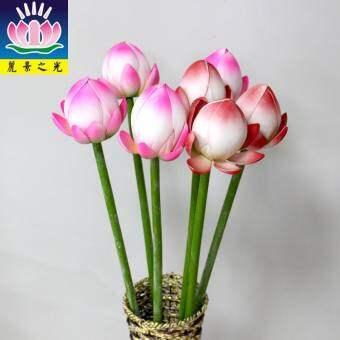 ดอกไม้จำลอง บัวฝักบัวดอกบัวตูมลูกไม้ลายดอกดอกไม้จำลองการจัดดอกไม้ Bei Lei สามารถเชื่อมต่อไฟ